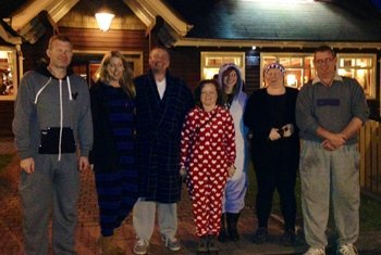 Group of people for midnight walk for cransley hospice
