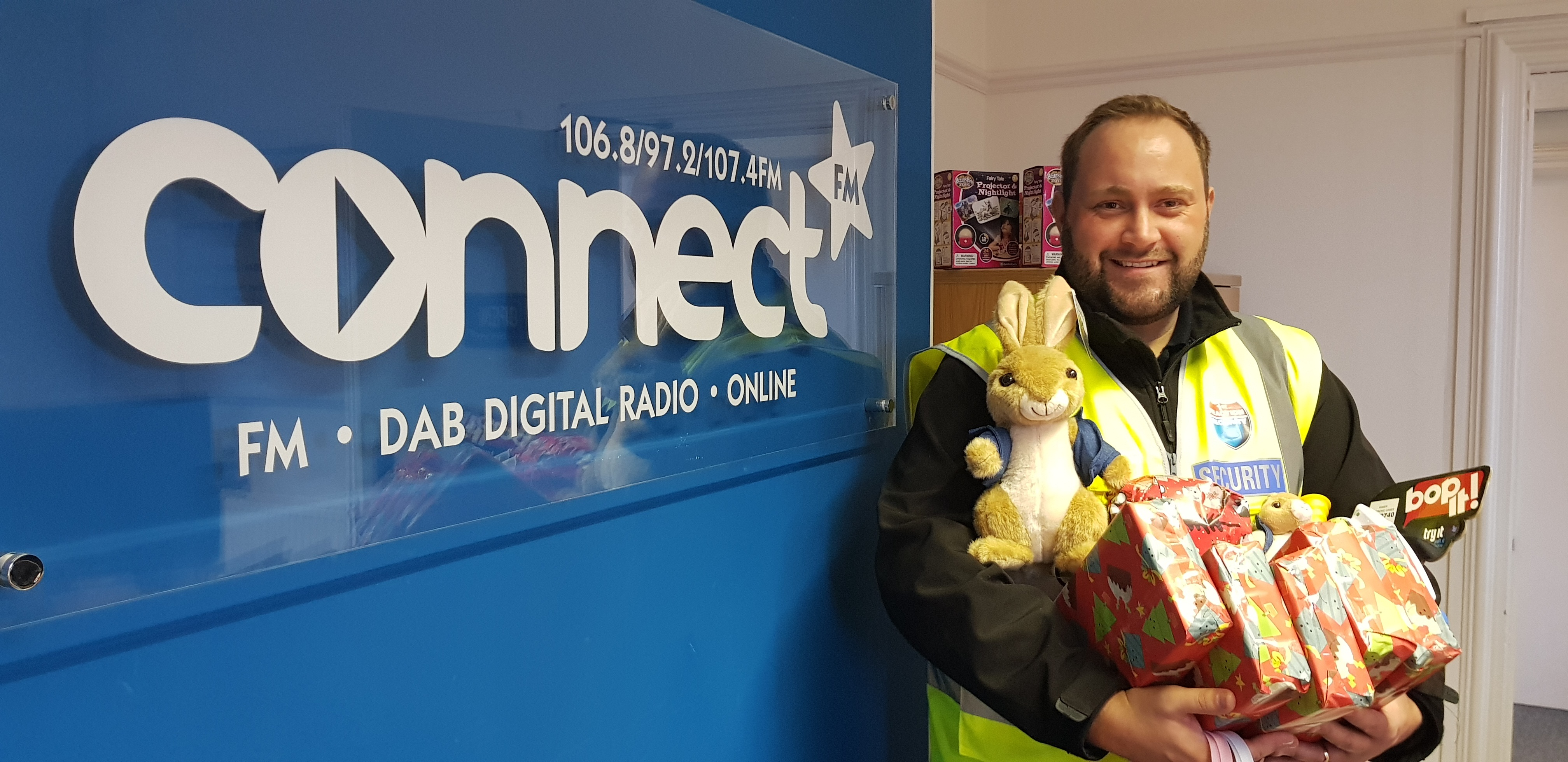 Connect FM toy appeal banner